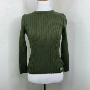 Diesel Wool Knit Ribbed Pullover Sweater Shirt S